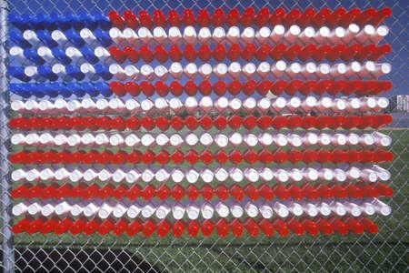 ut: American Flag Made of Plastic Cups, Salt Lake City, Utah