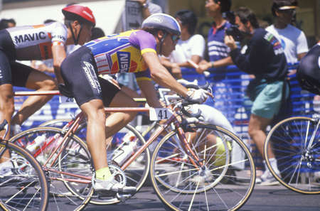 ca: Bicycle race, Beverly Hills, CA