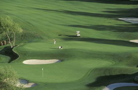 golf of california: Scenic overview of Greens, Golf Course, CA