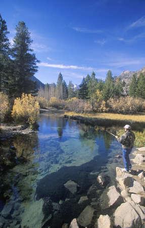 john muir wilderness: Scenic of fisherman in John Muir Wilderness area, Sierra Nevada Mountains, CA Editorial