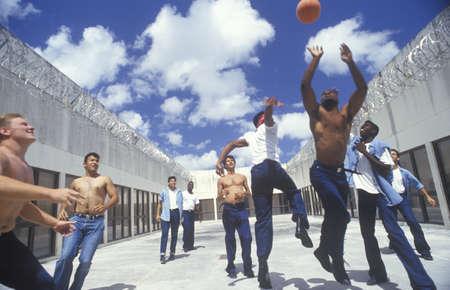 prison ball: Prison basket ball game, Dade County, FL Editorial