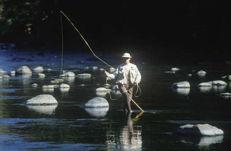 Trout Fishing in Housatonic River, Scenic Route 7, CT