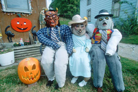 Scary Halloween Characters, Savanna, Illinois Stock Photo - 20526458