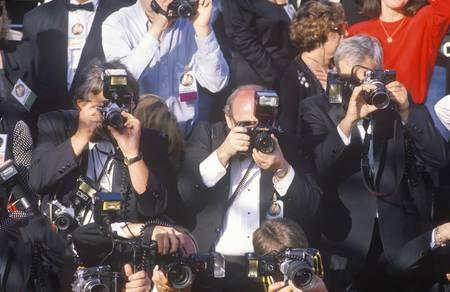 Druk Fotograferen Celebrity tijdens de 62e Annual Academy Awards, Los Angeles, Californië