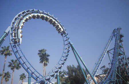 Roller Coaster, Knotts Berry Farm, Buena Park, California 新聞圖片