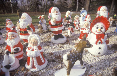 Christmas Yard Decorations, Michigan Stock Photo - 20512553