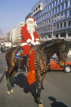 Santa Claus Riding A Horse, Washington, D.C. Stock Photo - 20491538