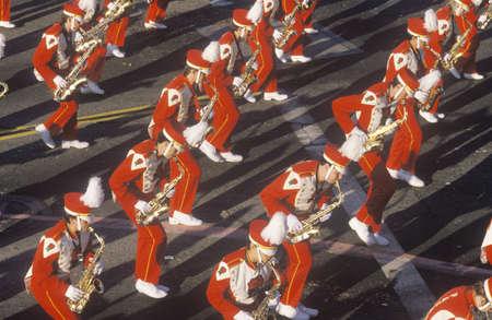 Saxophonists in Rose Bowl Parade, Pasadena, California