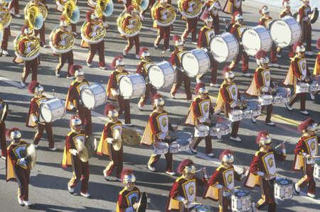 USC Marching Band in Rose Bowl Parade, Pasadena, California