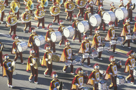 rose bowl parade: USC Marching Band in Rose Bowl Parade, Pasadena, California Editorial