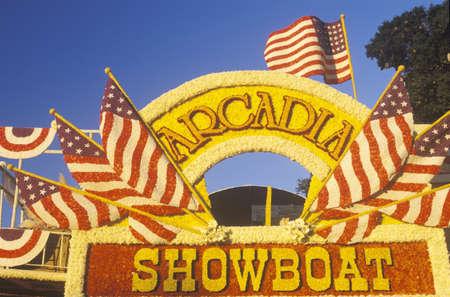 showboat: Float in Rose Bowl Parade, Pasadena, California Editorial
