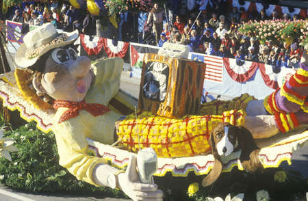 Float in Rose Bowl Parade, Pasadena, California