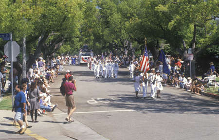 marchers: Marchers in July 4th Parade, Pacific Palisades, California