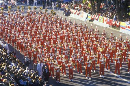 Marching Band at New Years Day Rose Parade, Pasadena, California