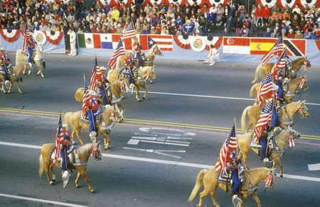rose bowl parade: Horses in Rose Bowl Parade, Pasadena, California Editorial