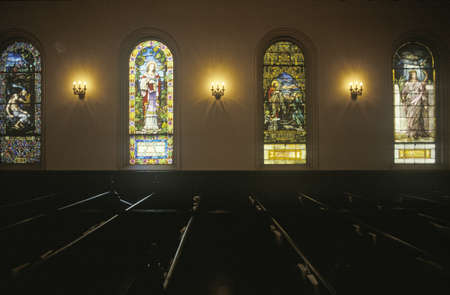 windows: A Sunday church service in Vicksburg Mississippi