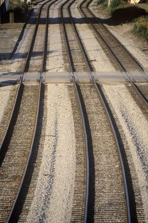 Railroad tracks in Chicago, Illinois Editorial