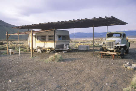 roughing: Trailer dwellers in Death Valley, California