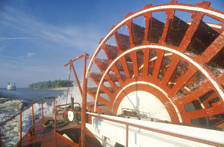 mississippi river: A steamboat paddle wheel on the Mississippi River Editorial