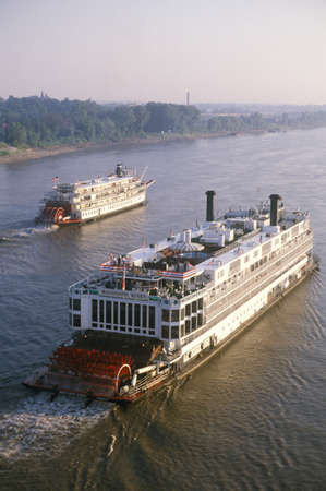 mississippi river: The Delta Queen, a relic of the steamboat era of the 19th century, still rolls down the Mississippi River Editorial