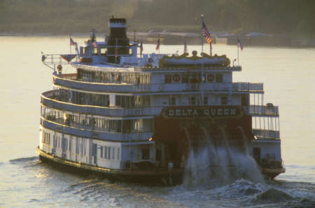 paddle wheel: The Delta Queen, a relic of the steamboat era of the 19th century, still rolls down the Mississippi River Editorial