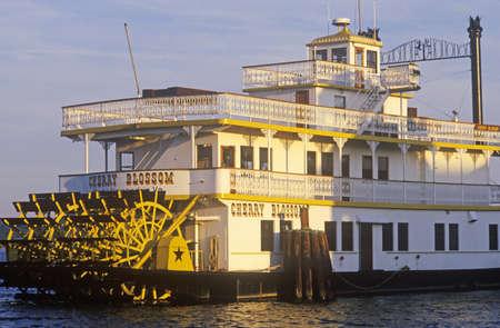 alexandria: A steamboat docked in the Alexandria Marina in Old Town Alexandria, Washington, DC Editorial