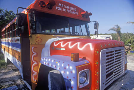 key biscayne: A painted bus in Key Biscayne, Florida