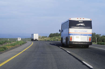 photographies: A greyhound bus tour on the Arizona highway