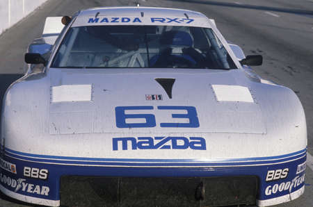 mazda: A Mazda Trans AM in the Toyota Grand Prix Car Race in Long Beach, CA Editorial