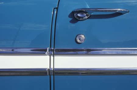 Detail of a 1956 Chevrolet Door