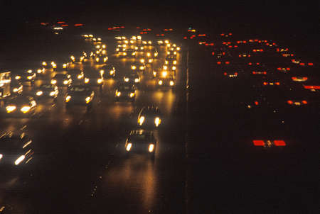 The night lights on the Highway 405 San Diego Freeway