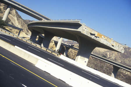 Route 5 and 118 freeway disaster following the 1994 Northridge earthquake, Southern California