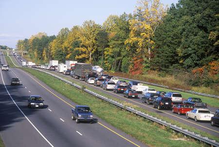 A one way traffic jam in North Carolina