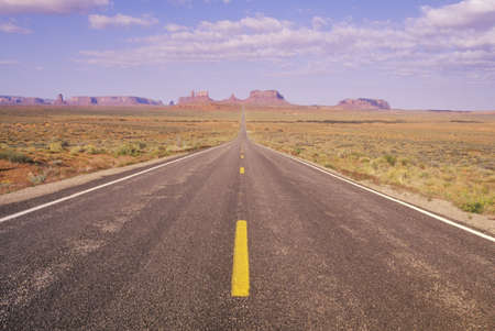 Route 163 just north of Monument Valley in Utah Stock Photo - 20491015