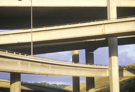 The Highway 10 overpass in Southern California Editorial