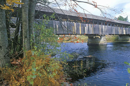 A covered bridge in Bearcan Crossing, New Hampshire