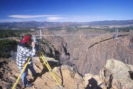 feats: Royal Gorge Bridge, the worlds highest suspension bridge, Canon City, Colorado