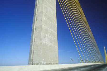 The Sunshine Skyway Bridge in Tampa Bay, Florida