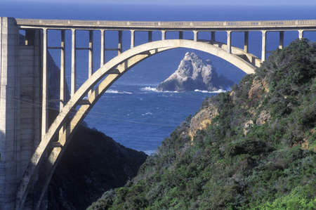 bixby: The Bixby Bridge in Big Sur, Northern California