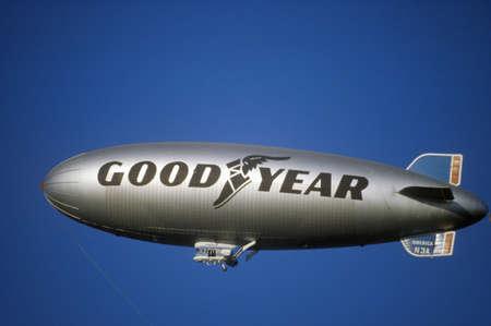 blimp: The Goodyear Blimp over Los Angeles