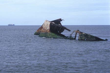 sic: The remains of the S.S. Atlantus (sic), which sunk off Cape May, New Jersey during World War I