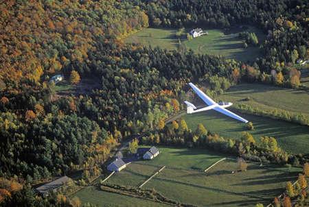 warren: An aerial glider flies over Warren, Vermont in autumn Editorial