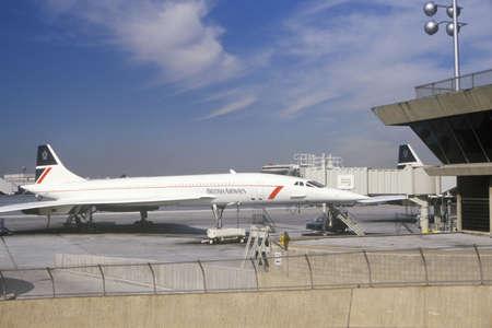 British Airways Supersonic Concorde jet at Kennedy Airport, New York  Editorial