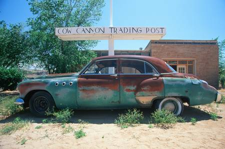junked: A junk car at the Cow Trading Post in Arizona