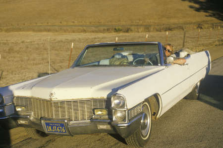 A convertible Cadillac, California