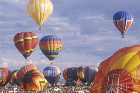 celebration: Balloons take to the air at the Albuquerque International Balloon Fiesta in New Mexico