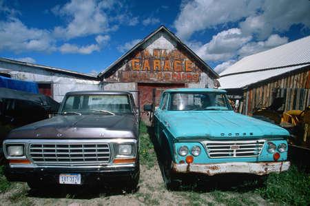 Old trucks in Montana
