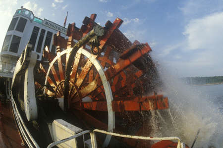 paddle wheel: A steamboat paddle wheel on the Delta Queen Steamboat, Mississippi River Editorial