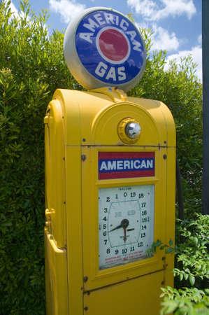 cultural artifacts: Antique American Gas pump in rural Virginia