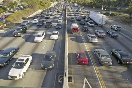 405 freeway near Sunset Blvd. at rush hour, Los Angeles, California